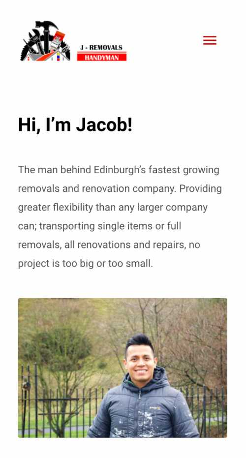 jacob removals and handyman website design mobile 1