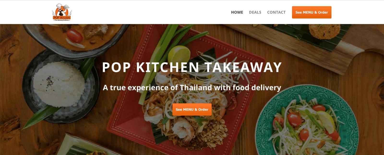 pop kitchen takeaway thai restaurant web design edinburgh